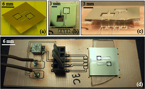 Miller's microelectromechanical energy harvesters. (Courtesy Journal of Micromechanics and Microengineering, vol. 21, 2011)